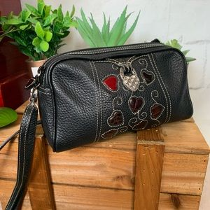 Brigbton Leather Shoulder Bag Hearts